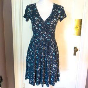 Adorable ASOS faux wrap bird print dress